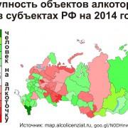 Таблица ограничений продаж алкоголя в субъектах РФ